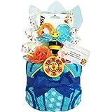 Sassy サッシー おむつケーキ 出産祝い 赤ちゃん プレゼント 内祝い 誕生日プレゼント 人気 ギフト ダイパーケーキ 男の子 (パンパースS12 (出産祝い用に))