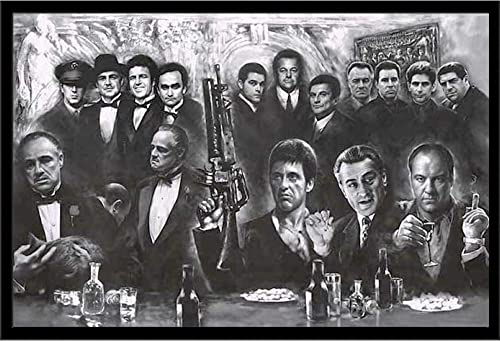 Mafia Gangster Wall Art Decor Framed Print