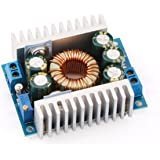 DROK DC Car Power Supply Voltage Regulator Buck Converter 8A/100W 12A Max DC 5-40V to 1.2-36V Step Down Volt Convert Module