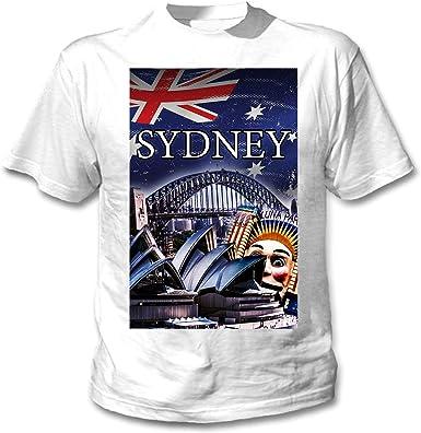 teesquare1st Sydney City Australia Camiseta Blanca para Hombre de Algodon: Amazon.es: Ropa y accesorios