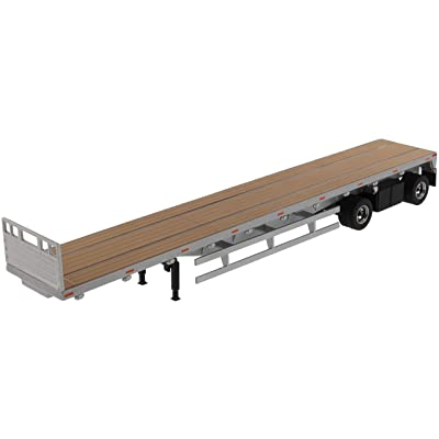 53' Flat Bed Trailer Silver Transport Series 1/50 Diecast Model by Diecast Masters 91023: Toys & Games