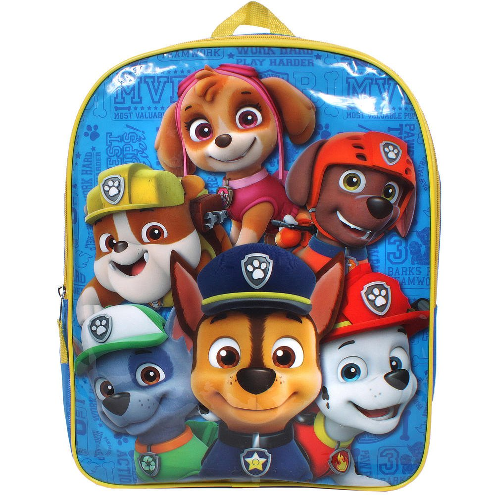 "Paw Patrol Puppy Friends 11"" Backpack Tote Bag Small Blue"