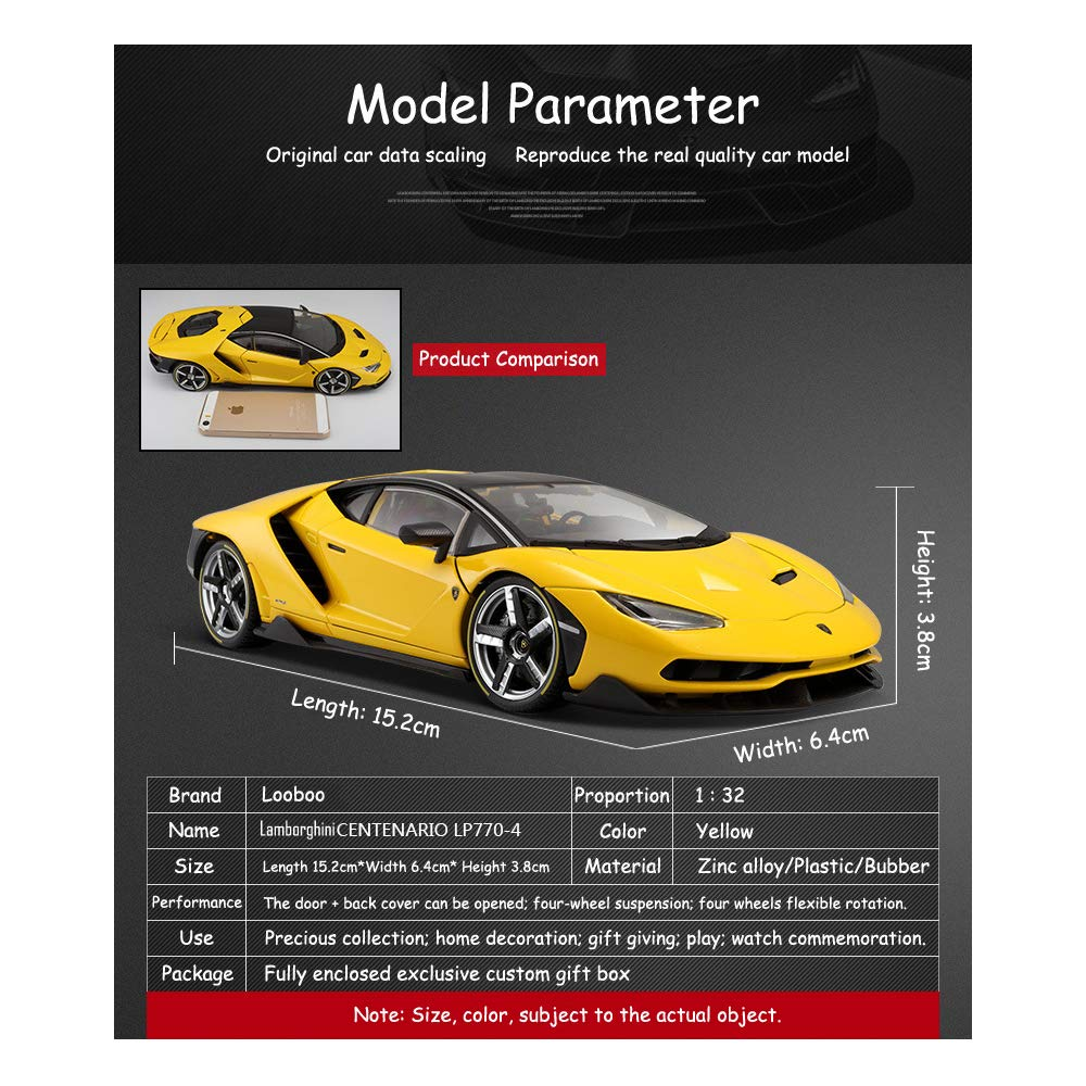 Alloy Collectible Lamborghini Toy Vehicle Pull Back Die-Cast Car Model with Lights and Sound