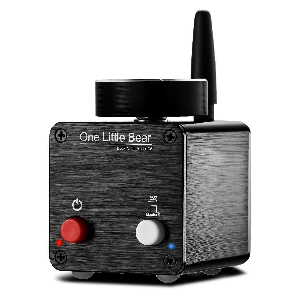 Nobsound Little Bear G5 Mini Digital Power Amplifier Bluetooth Audio Amp HiFi Stereo Receiver Home Speaker 100W (50W x 2) (Black)