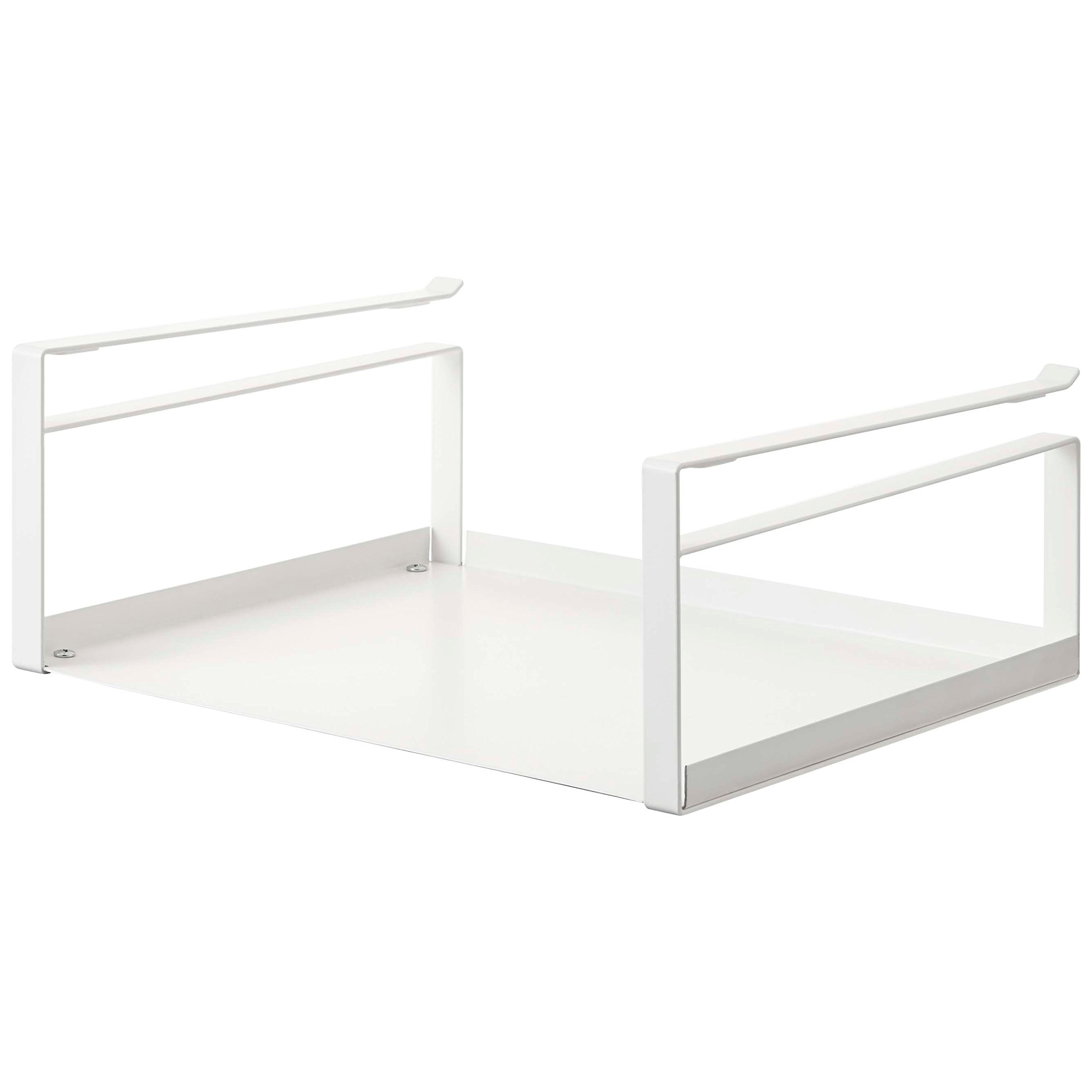 MattsGlobal Moderm Steel Tool Caddy Under Cabinet Storage Rack (White)