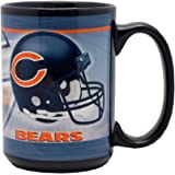 Orange 15oz Sculpted Hall of Fame Memorabilia Chicago Bears Coffee Mug