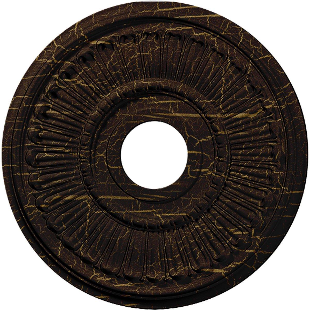 Ekena Millwork CM16MLRBC 16'' x 3-5/8'' x 3/4'' Melonie Ceiling Medallion, Root Beer Crackle