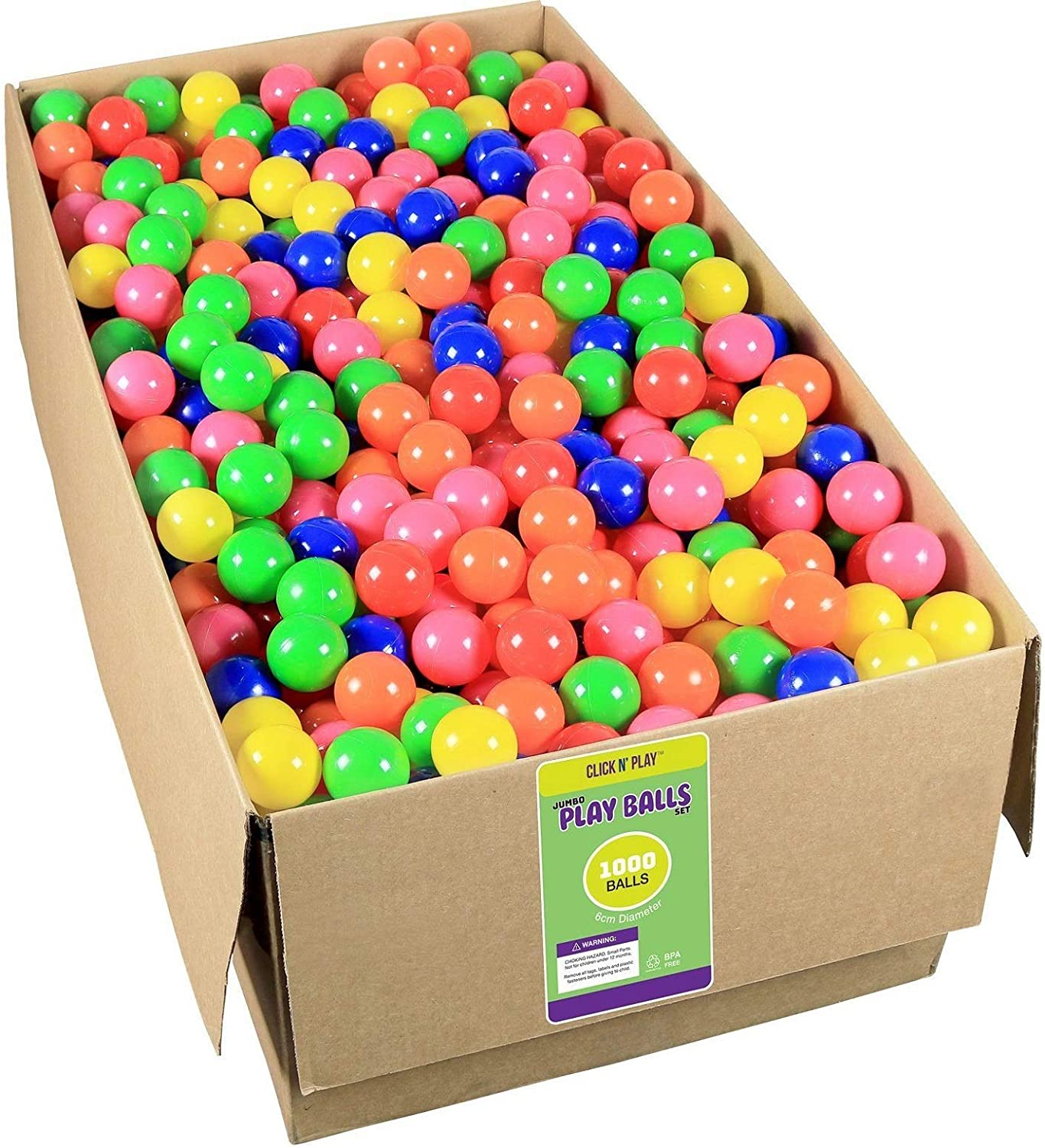 Pit Click N/' Play Pack of 200 Phthalate Free BPA Free Crush Proof Plastic Ball