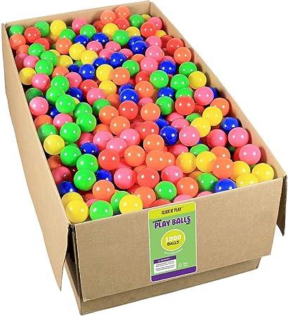 "500 CMS 3/"" My Balls Crush Proof No Phthalate or BPA Pit Fun Balls Orange"