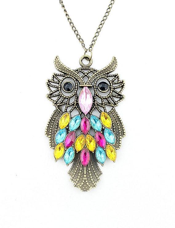 e7801ce5e97073 WorldTree Fashion Vintage Bronze Style Owl Bird Animal Pendants Long Chain  Necklace,free shipping: Amazon.co.uk: DIY & Tools