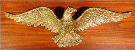 The Kings Bay Solid Brass Eagle Sculpture Wall Art for Above Door Home American Heavy