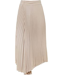 a85f78c1e7 Amazon.com: Vince Women's Stitch Pleating Wrap Skirt, White M: Clothing