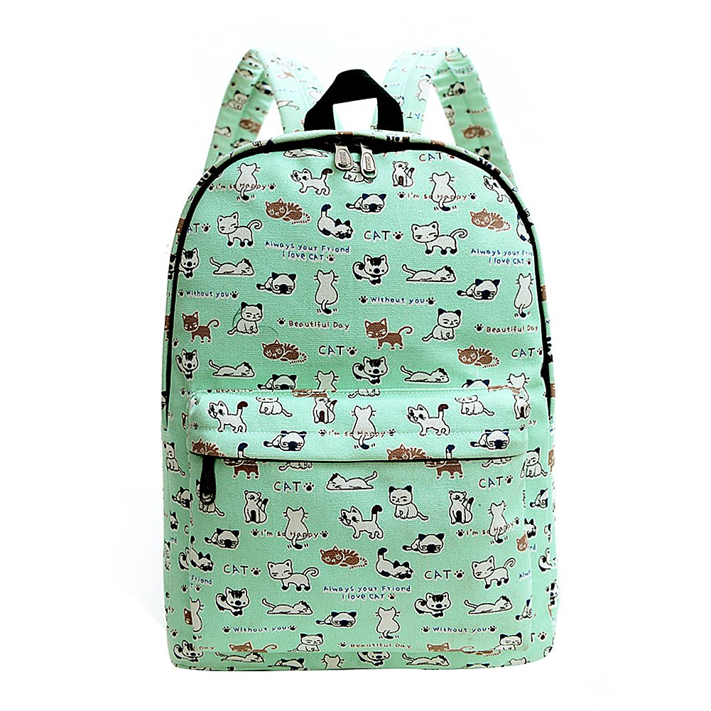 a35a374b2 Cat Printed Canvas Backpack | Building Materials Bargain Center