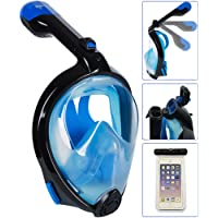 Foldable Snorkel Mask Version 3.0, Bestlus Snorkeling Mask 180° Panoramic View Full Face for Adults Kids. with Anti-Fog Anti-Leak Design