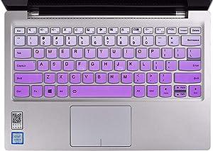 "Keyboard Cover Skins Compatible with 13.9"" Lenovo Yoga C940 C930 920 & 14"" Lenovo Flex 14 & 13.3"" Yoga 730 720 720S & 12.5"" Yoga 720 & 14"" Yoga C740 & Ideapad 720s 13"" 14""(Ombre Purple)"