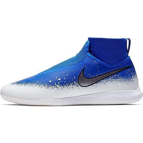 Preferencia Promover Original  Buy Nike React Phantom VSN Pro DF IC Racer Blue/Chrome/White 11.5 at  Amazon.in