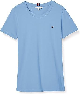 Tommy Hilfiger TH ESS SLD Round-Nk Top SS Camisa para Mujer: Amazon.es: Ropa y accesorios