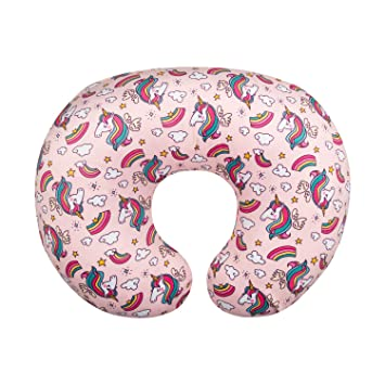 Soft and Stretchy Jersey Cotton Fabric Fits Snug On Nursing Pillows While Breast Feeding New mom gifts// Baby registry must haves Nursing Pillow Cover by Danha Breastfeeding pillow cover