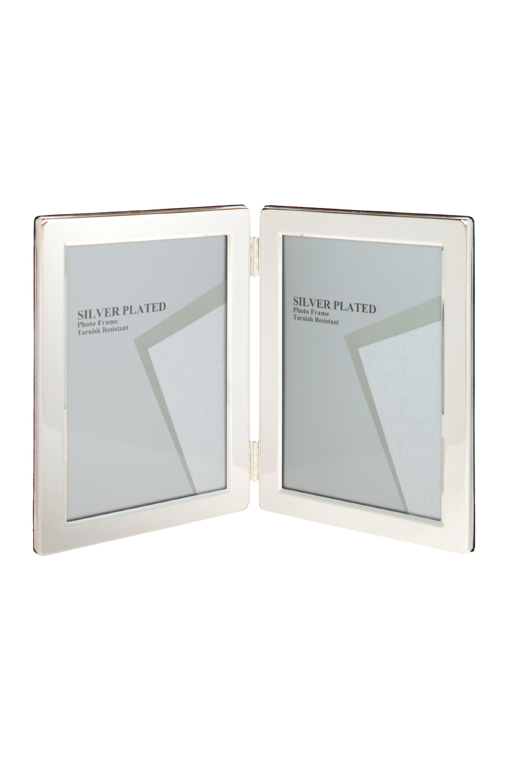 Viceni Silver Plated Double Aperture Picture Photo Frame, 2.5 by 3.5-Inch by Viceni