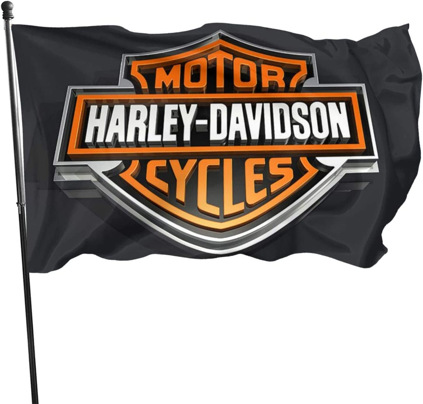 TANBAK Harley Davidson Outdoor Flags Printed 3x5 Ft Vivid Color Banner with Brass Grommets Party Decorative Flag for Home Garden Welcome,4