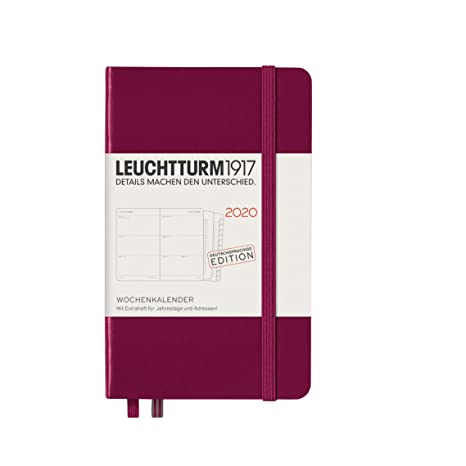 Leuchtturm1917 - Agenda 2020, tapa dura, A6, 12 meses ...