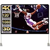 Projector Screen with Stand 120 inch 16:9 HD 4K Outdoor Indoor Projection Screen for Home Theater 3D Fast-Folding…