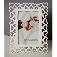 Art Street Decoralicious White Heart Photo Frame/Wall Hanging for Home Décor