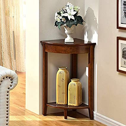 hot sale online a768b 27bee Amazon.com: Housewares Corner Shelf Unit 2-Tier- Wooden ...