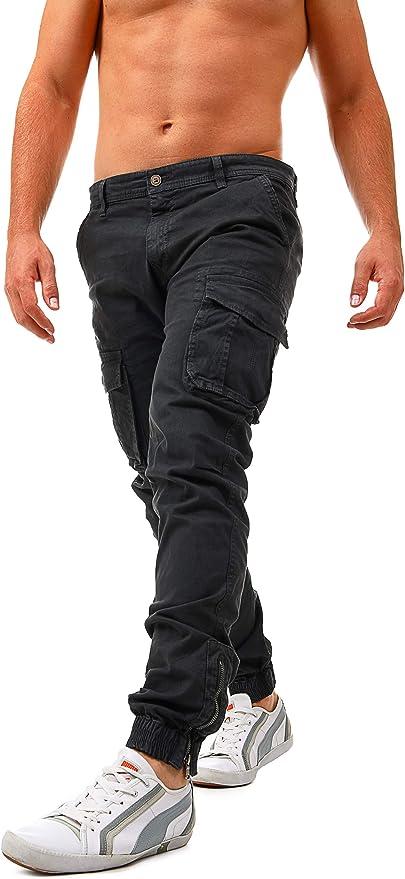 36 opinioni per Instinct Pantaloni Uomo Cargo con Tasche Laterali Tasconi Jeans Slim Fit