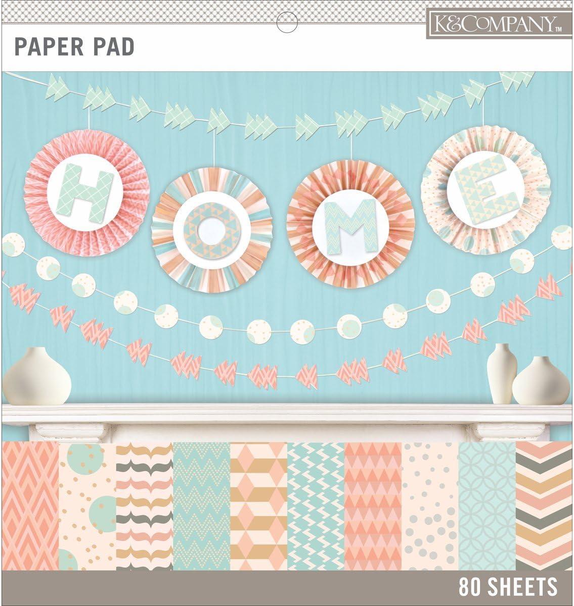 x 12 in Multicolor Pastel Color Basics K/&Company 30-697782 Scrapbook Paper Pad