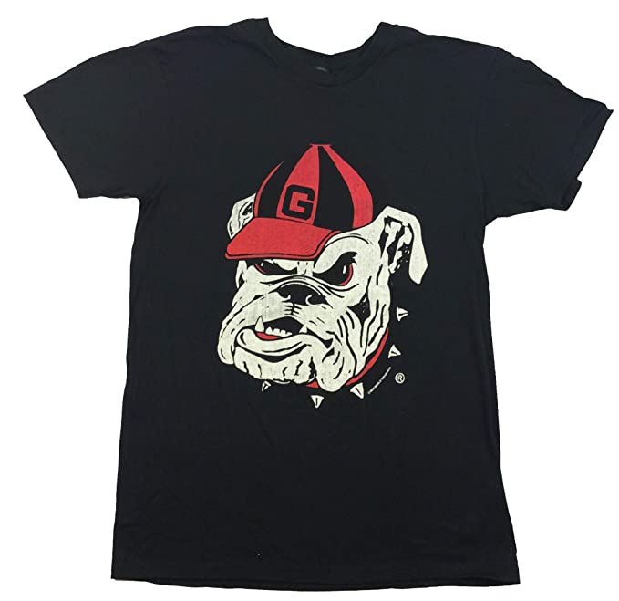 eda97b121ec New World Graphics University of Georgia Bulldog Face T-Shirt-Black-Small