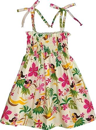 f70366ca6e Amazon.com  RJC Girl s Hula Spring Hawaiian Smocked Dress  Clothing