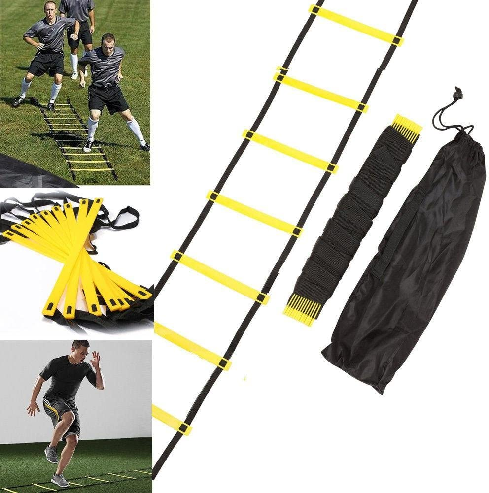 FONGKE Agility Ladder, 12 Rung 20ft Speed Training Ladder Equipment for Home Workouts with Carrying Bag