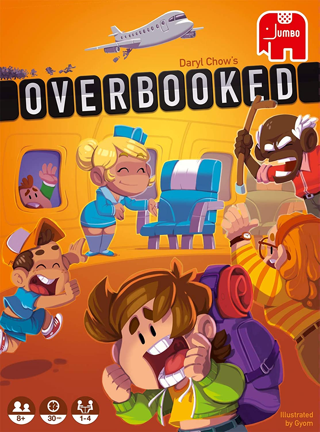 Amazon.com: Jumbo 19738 Overbooked Game, Multi: Toys & Games