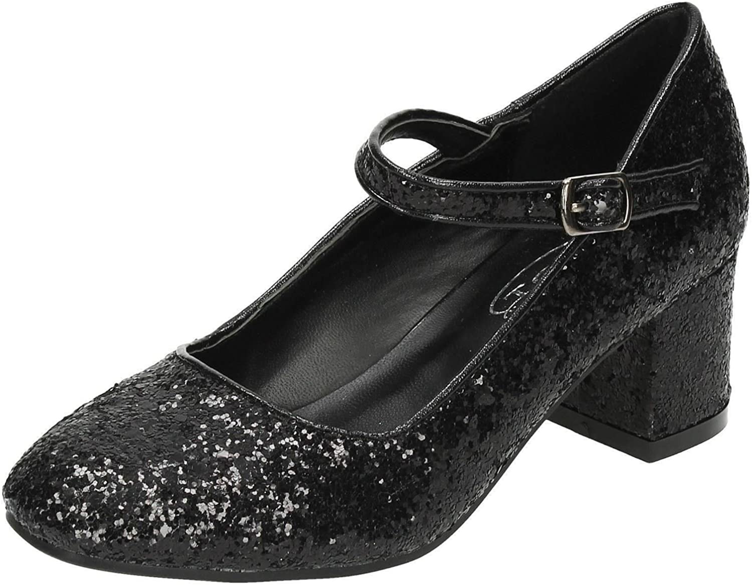 Girls Heeled Sparkly Dolly Shoes H3057
