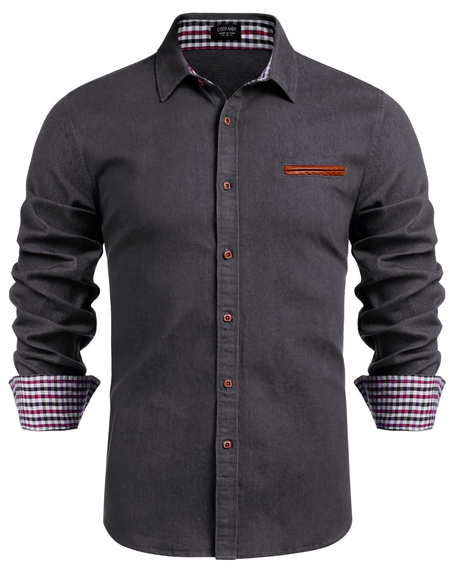 Fashion Shopping COOFANDY Men's Casual Dress Shirt Button Down Shirts Long-Sleeve