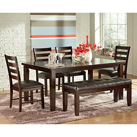 Terrific Amazon Com Steve Silver 6 Piece Sao Paulo Dining Table Set Caraccident5 Cool Chair Designs And Ideas Caraccident5Info