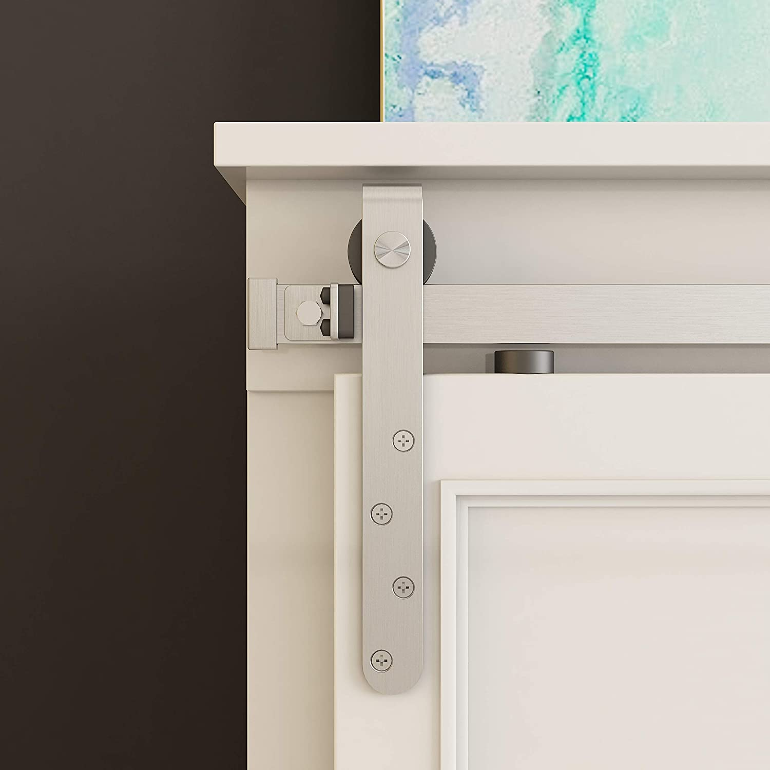 5 ft Mini Cabinet Barn Door Hardware Sliding Double Door Kit Architectural Products by Outwater Oil Rubbed Bronze