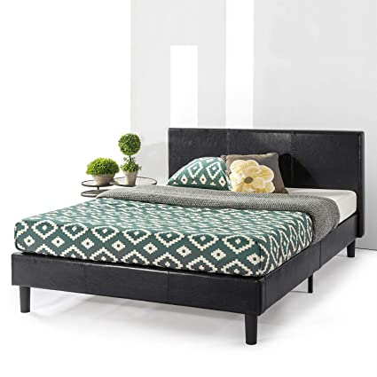 Amazon Com Best Price Mattress Agra Upholstered Faux Leather With