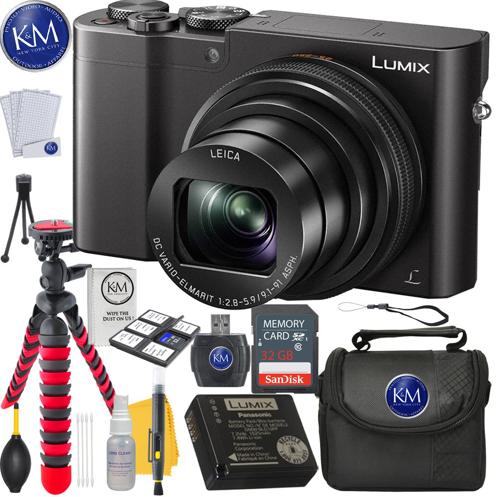 Panasonic Lumix DMC-ZS100 Digital Camera (Black) + 32GB Card + Photo Accessory Bundle