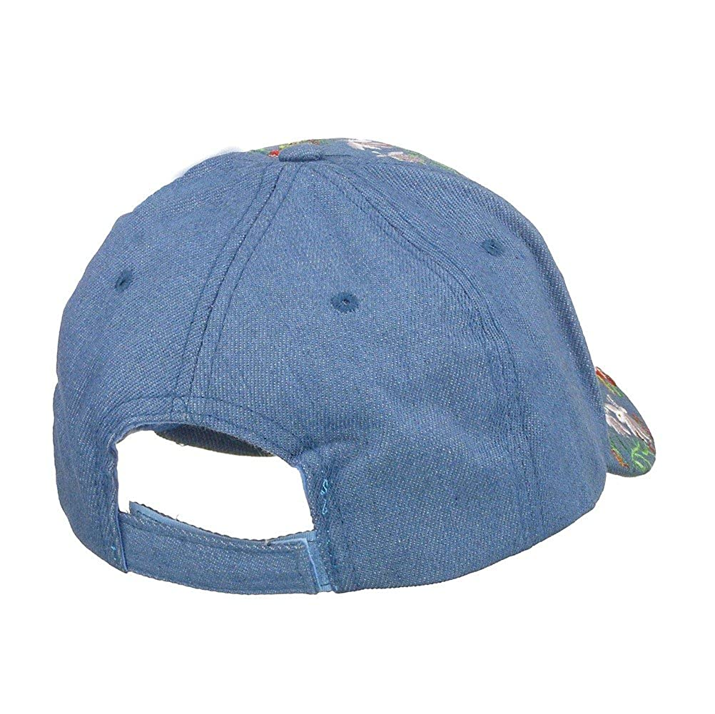 Womens 100/% Cotton Bling Baseball Cap with Floral Embroidery