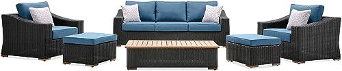 La-Z-Boy Outdoor New Boston 6 Piece Wicker Patio Set: Sofa