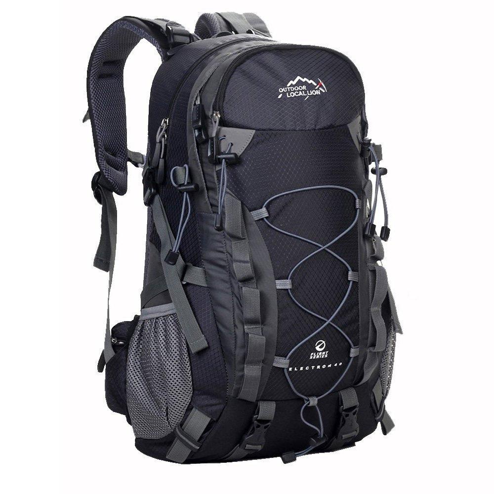 ZOUQILAI Outdoor Hiking Backpack 40L Backpack Backpack Large Capacity Waterproof Hiking/Camping Backpack Backpack Black