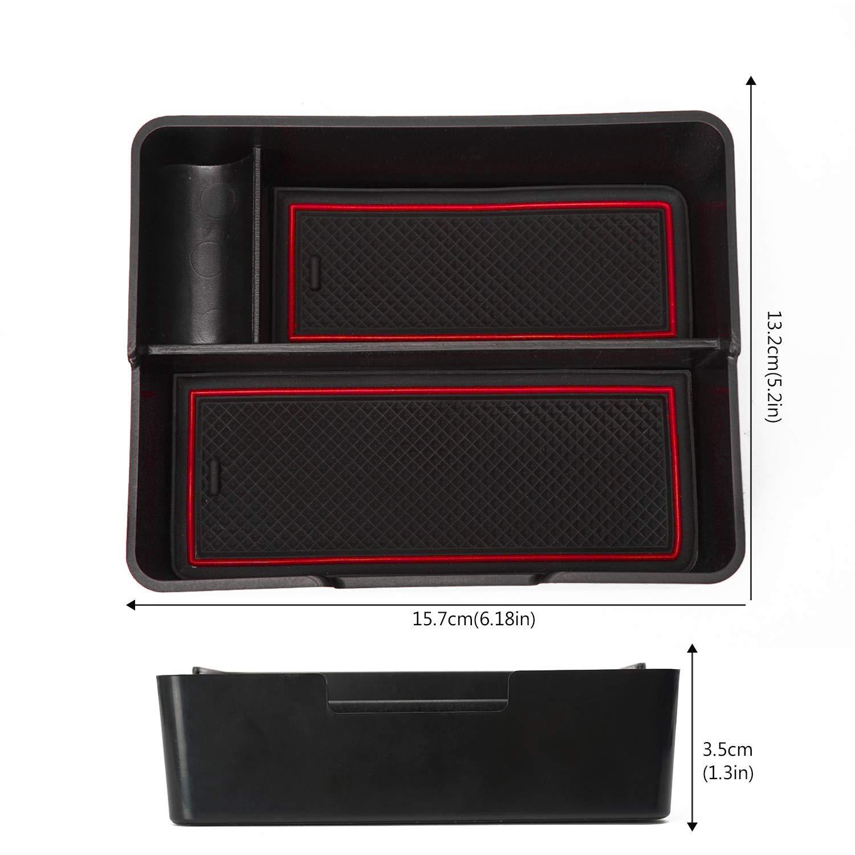 LITTOU vano contenitore portaoggetti secondario bracciolo per model 3 2017 2018 2019 Blu