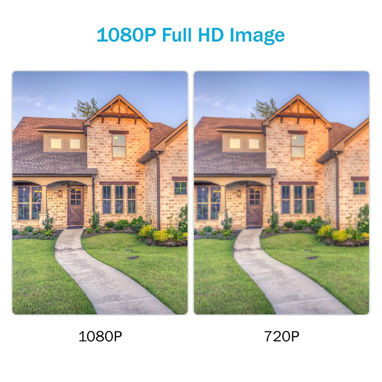 Compression vid/éo,/étanche IP66 int/érieur-ext/érieur 2MP cam/éra avec Vision Nocturne Intelligente /à LED IR ANNKE 1080P FHD Bullet IP cam/éra de Surveillance avec H.264