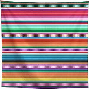 Allenjoy 8x8ft Color Fiesta Theme Party Stripes Backdrop Cinco De Mayo Mexican Festival Photography Background Cactus Banner Decoration Event Table Decor Banner Background Children Photo Booth Shoot