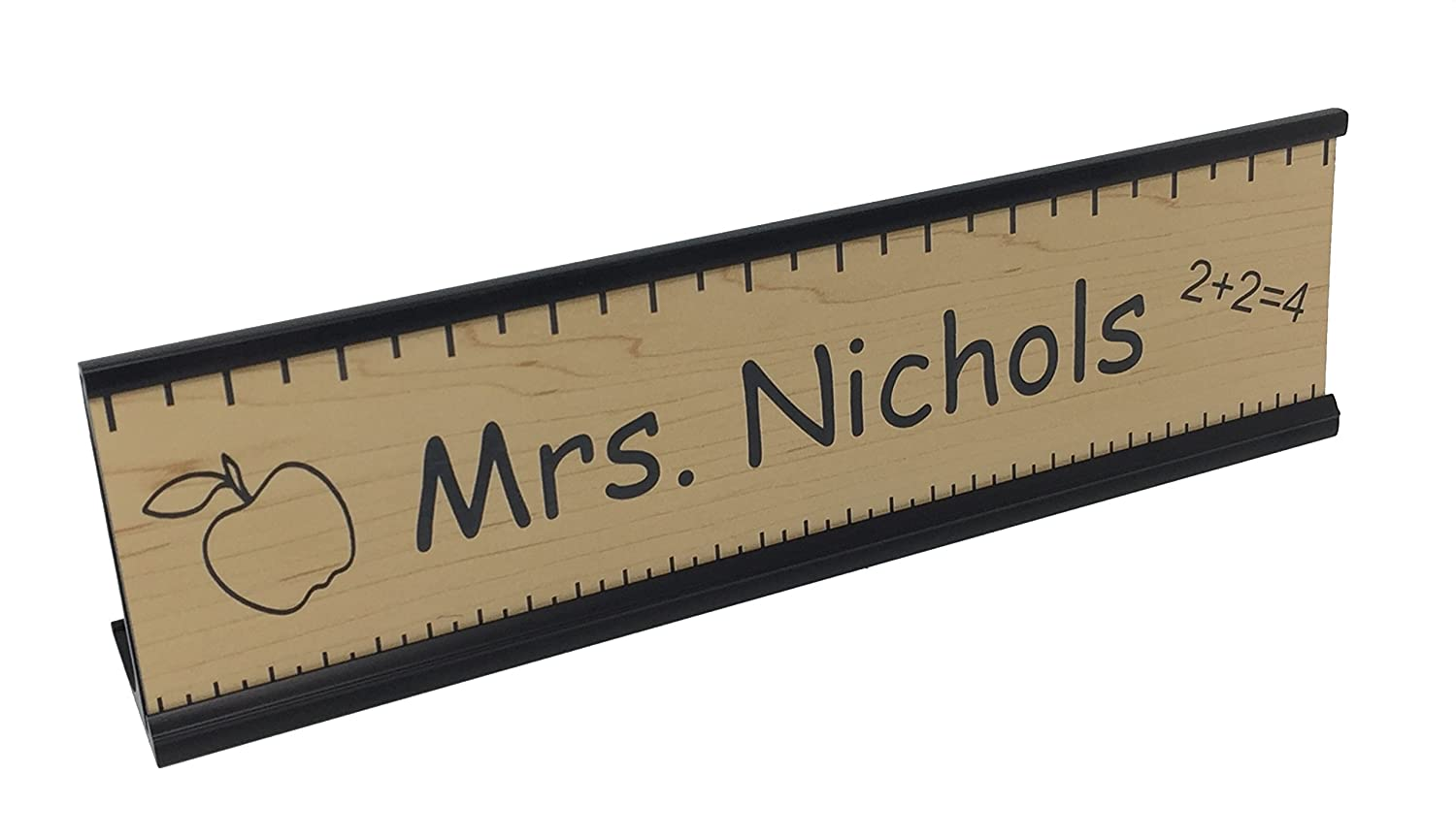 Teacher Office Desk Name Plate Or Door Sign With Or Wo Holder Free Engraving Great Gift For School Teacher With Black Desk Holder