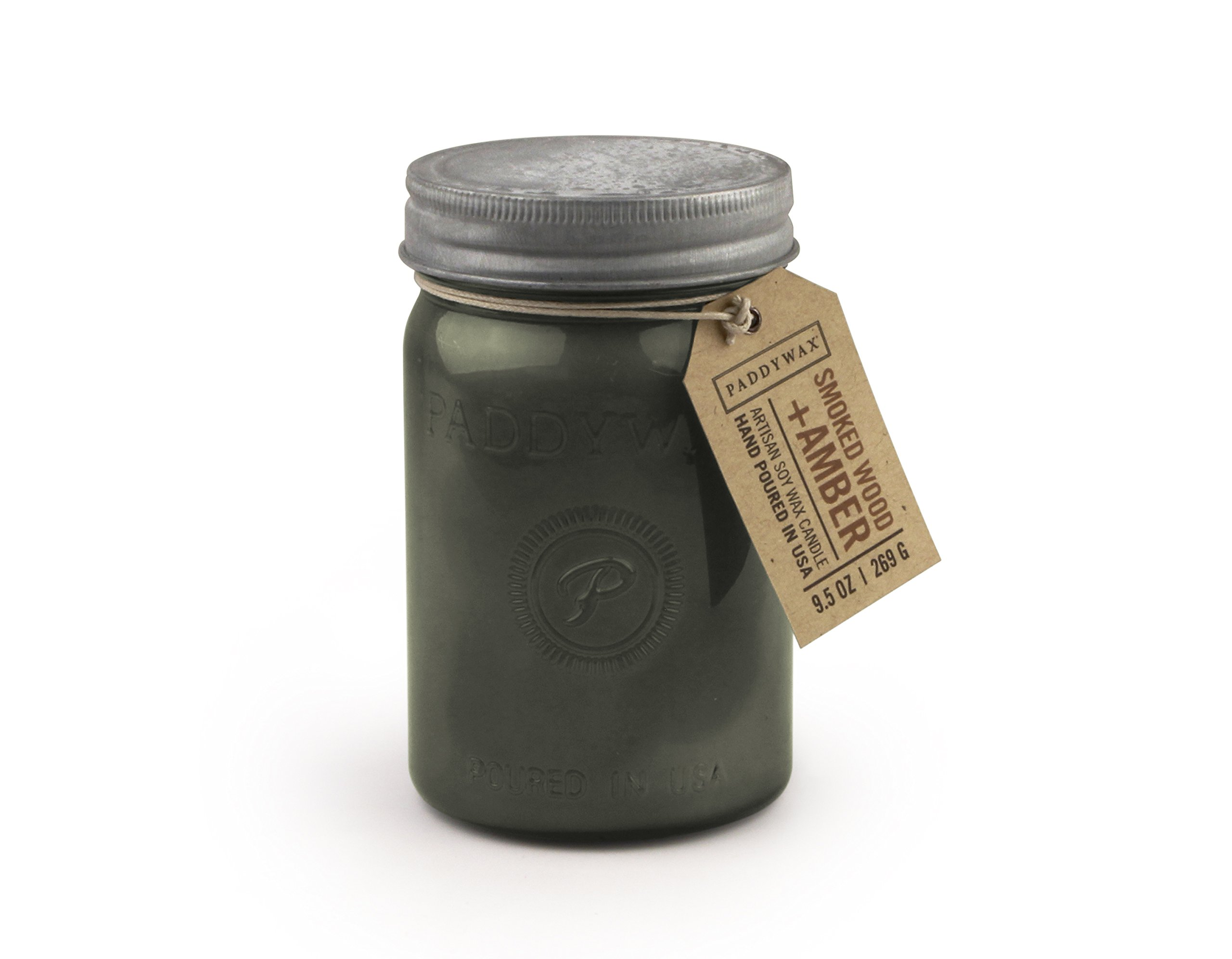 Paddywax Relish Collection Scented Soy Wax Jar Candle, 9.5-Ounce, Smoked Amber & Wood by Paddywax (Image #2)