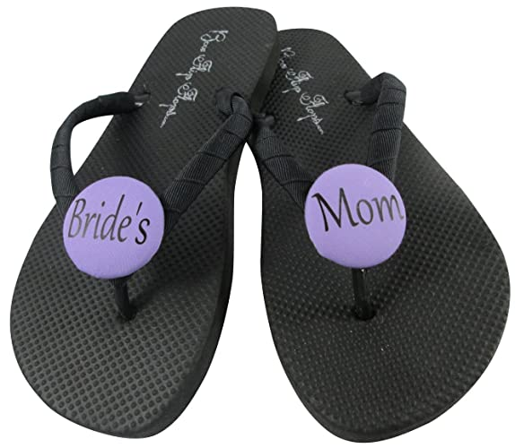 22e0e4a195eb Amazon.com  Orchid and Black or choose colors - Mother of the Bride flip  flops