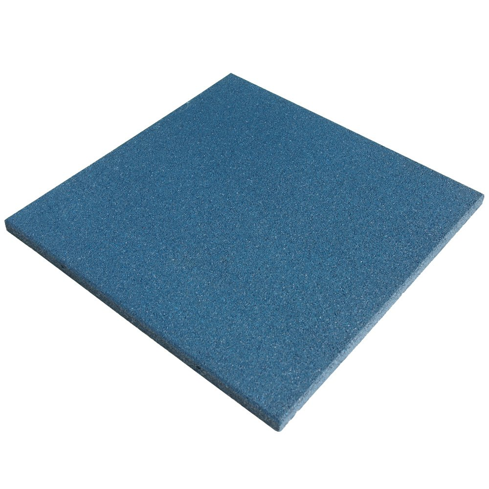 Rubber-Cal ''Eco-Sport 3/4-inch Interlocking Rubber Tiles - 3/4 x 20 x 20-inch Rubber Tile - 5 Pack, 14 Sqr/Ft Coverage - Light Blue in Color